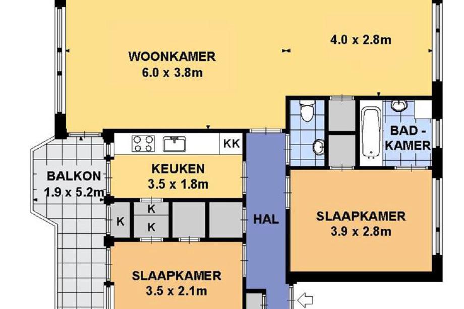 Appartement te huur ravelstraat 3 3 arnhem voor 780 for Huis te huur in gelderland