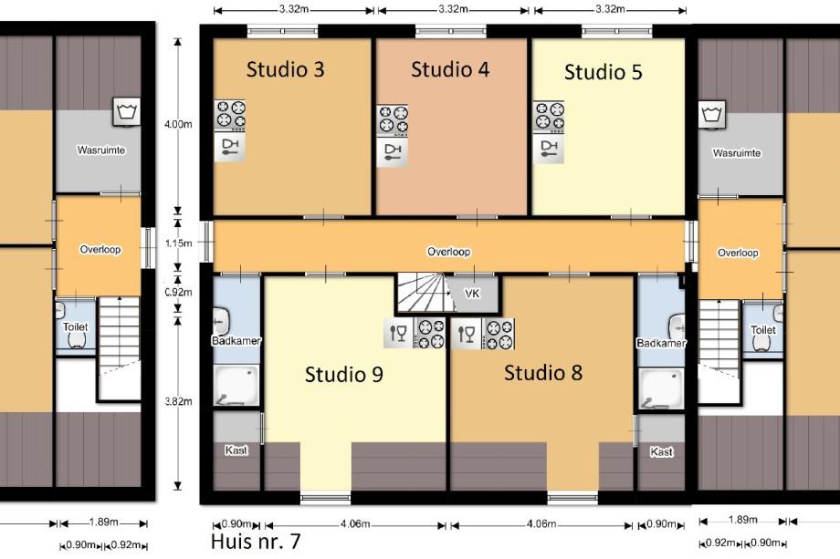 Studio te huur kanunnikensteeg 5 1 oirschot voor 495 - Gemeubileerde studio ...