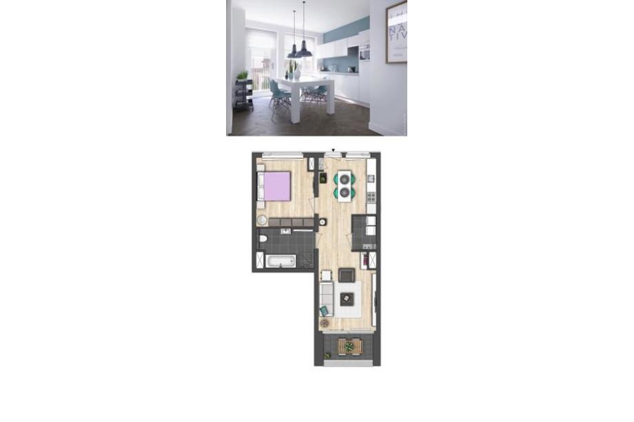 Apartment For Rent De Kaai Groningen For 1 075